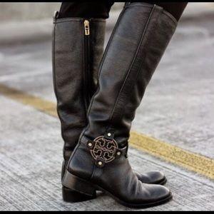 Black Tory Burch Riding Boots